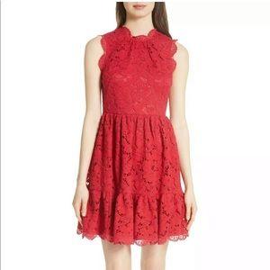 Kate Spade Red Poppy Lace Dress